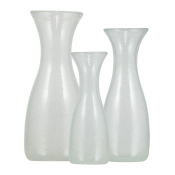 Pearl White Handmade Glass Carafe