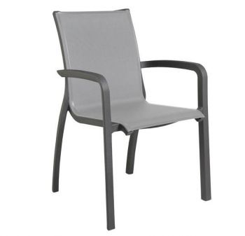 garden dining chair steel all weather stacking designer