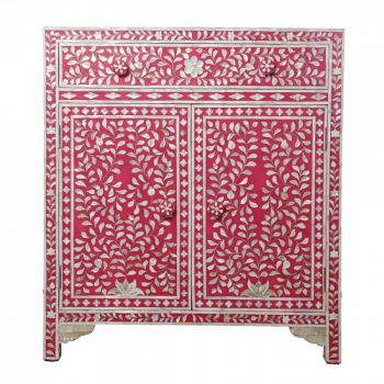 Luscious Pink Mother of Pearl Side Cabinet