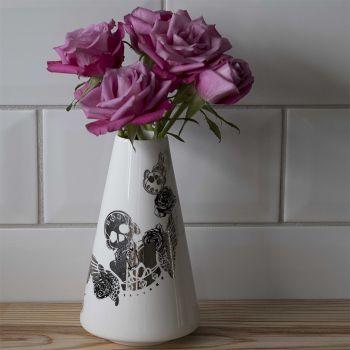 Platinum Skull Vase