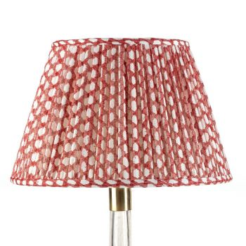 Bespoke Wicker Lampshade in Red