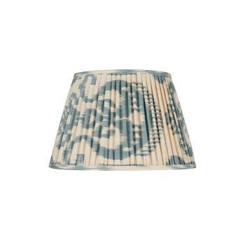 Blue and Cream Silk Ikat Lampshade  Rosana Lonsdale