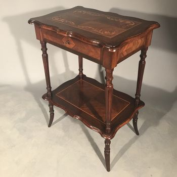 Rosewood and marquetry sewing table