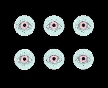 Rosie Evil Eye Coasters Set of 6