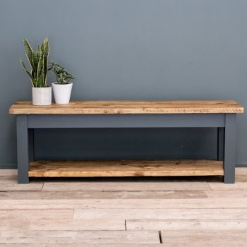 Rustic Farmhouse Shoe Bench