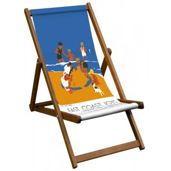 Vintage Style Deckchair with East Coast Joys Design Sling