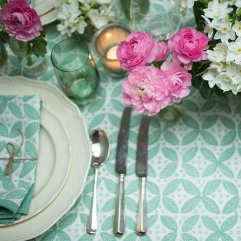 green berry block print tablecloth Sarah K