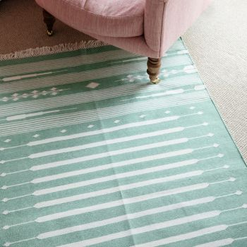 Green Cotton Rug Sarah K