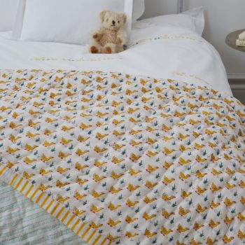 Yellow Cotton Baby's Quilt Sarah K