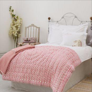 Pink Elephant Cotton baby Quilt Sarah K