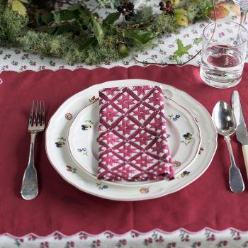 burgundy linen placemats Sarah K