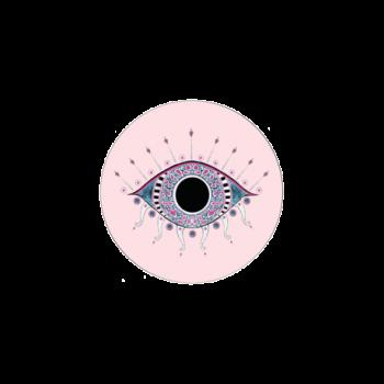 Scarlett Evil Eye Coaster Pink Bell Hutley