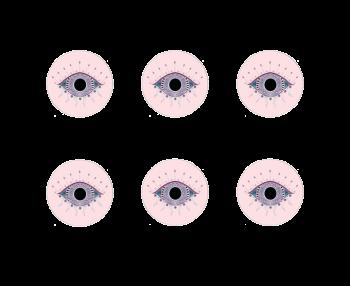 Scarlett Evil Eye Coasters Set of 6