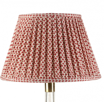 Fermoie Red and Cream Marden Lampshade