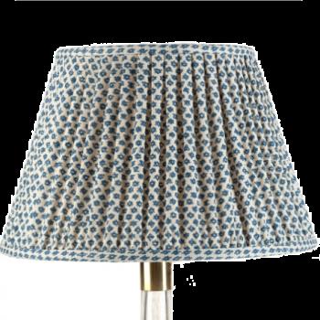 Fermoie Marden Green and Cream Cotton Lampshade