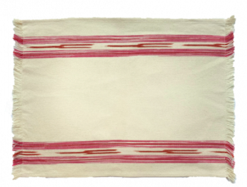Placemat Cream and Pink Ikat Mews Furnishings