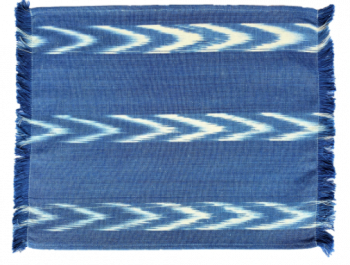 Fabric Placemat Chambray with Three Chevron Stripe