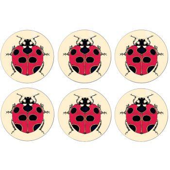 Ladybird Set of 6 Placemats