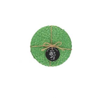 Silky Jute Coasters In Grass Green