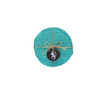 Silky Jute Coasters In Medici Blue