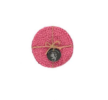 Silky Jute Coasters In Neyron Rose