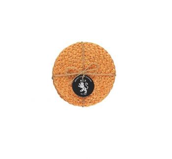 Silky Jute Coasters In Spanish Orange
