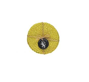 Silky Jute Coasters In Sulphur Yellow