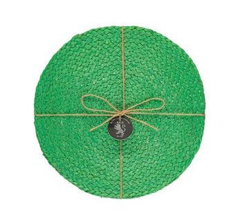 Silky Jute Place Mats In Grass Green