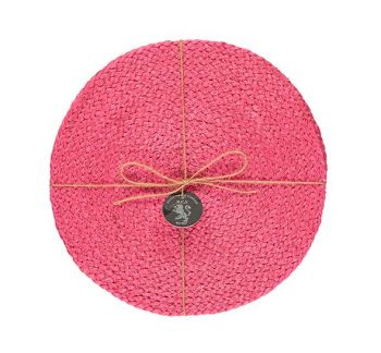 Silky Jute Place Mats In Neyron Rose