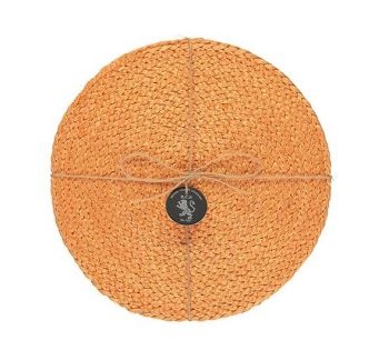 Silky Jute Place Mats In Spanish Orange