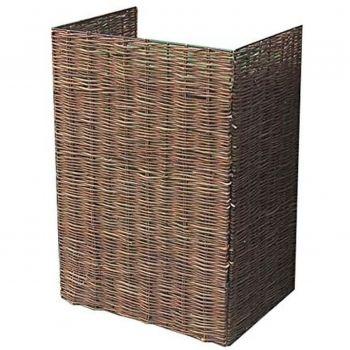 Woven Willow Topless Wheelie Bin Single Screen