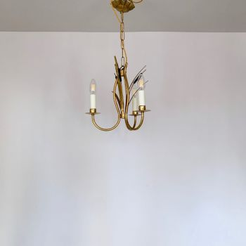 Small French GiltToleware Chandelier