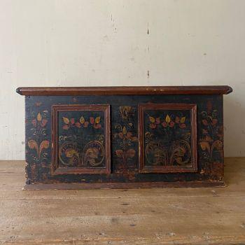 Small Hungarian Painted Marriage Box John Cornall
