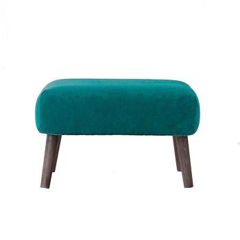 Small Upholstered Retro Classic Velvet Footstool