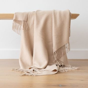 Soft Brown Baby Alpaca Throw
