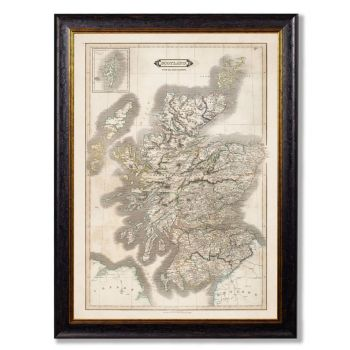 A beautifully restored map of Scotland from 1831