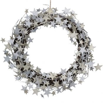 Silver and Gold Star Wreath