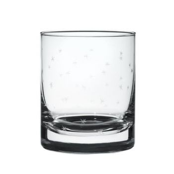 A Pair of Whiskey Glasses with 'Stars' Design