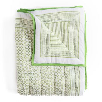 Sunflower Quilt in Green