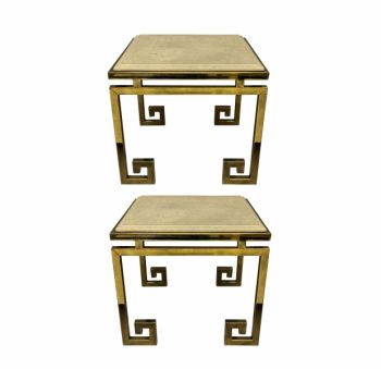 A Pair Of French Key End Tables Mid Century Side Tables