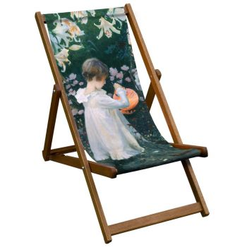 Vintage Style Deckchair with Seargent Tate Design Sling