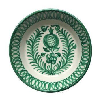 Spanish Ceramic Lebrillo Bowl with Pomegranate Design