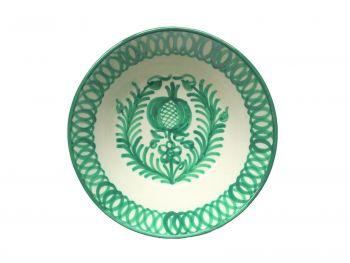 Spanish Ceramic Lebrillo Small Bowl with Pomegranate Design