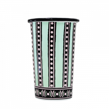 The Tiger Lily Green, Black and Pink Handmade Tumbler