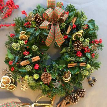 Traditional Fresh Christmas Wreath