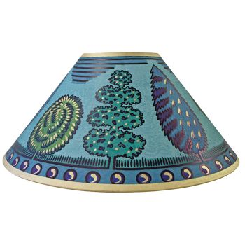 Trees Lampshade in Green