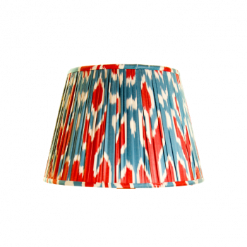 Red, blue and white ikat lampshade melodi horne