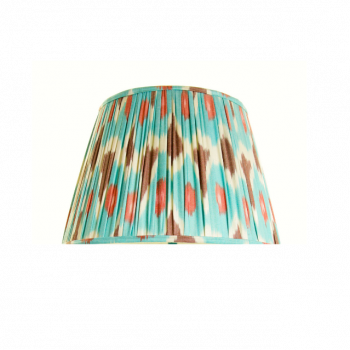 Turquoise, Brown and Pink Ikat Lampshade Melodi Horne