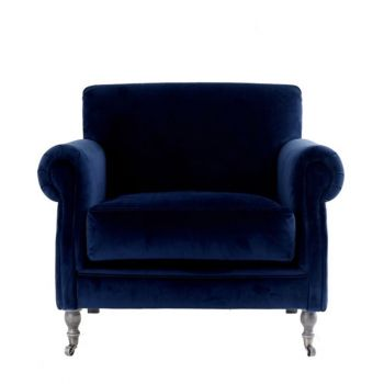 Oversized Velvet Classic Traditional Armchair Upholstered