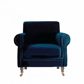 Velvet Classic Traditional Upholstered Armchair
